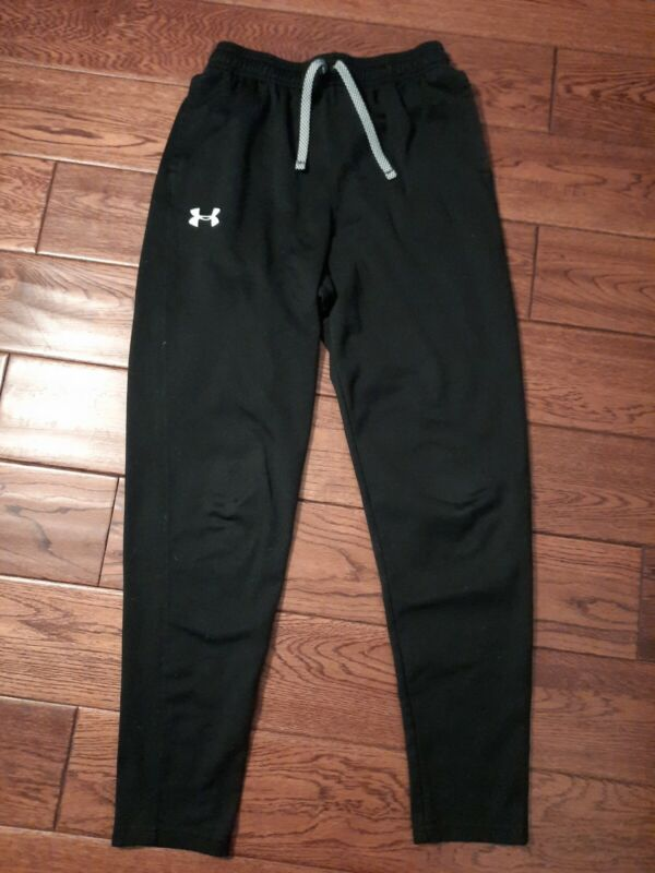 SET OF 2 Under Armour Youth Size XL Warm Up Track Pants Drawstring Tapered Leg