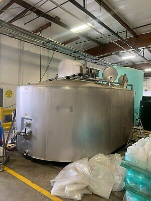 Damrow 4500 Gallon Double-o Cheese Vat Stainless Steel Jacketed Tank W Mixers