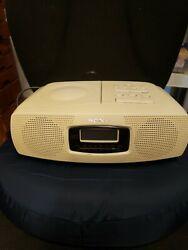 Vintage Sony CD Clock Radio Model ICF CD820 CD player-Tested