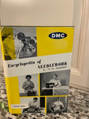 RARE 1950s DMC ENCYCLOPEDIA OF NEEDLEWORK by DILLMONT TATTING CROCHET SEWING