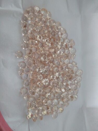 AAA 100% NATURAL LOOSE GEMSTONE ROUND PEACH MORGANITE FACETED CUT  LOT