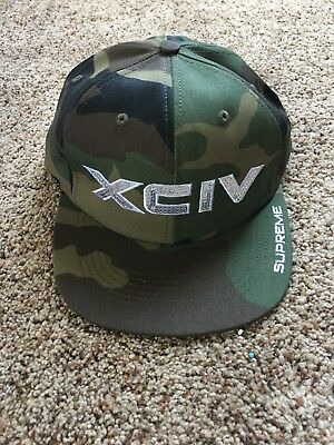 SS17 Supreme XCIV Woodland Camo 6-panel Hat