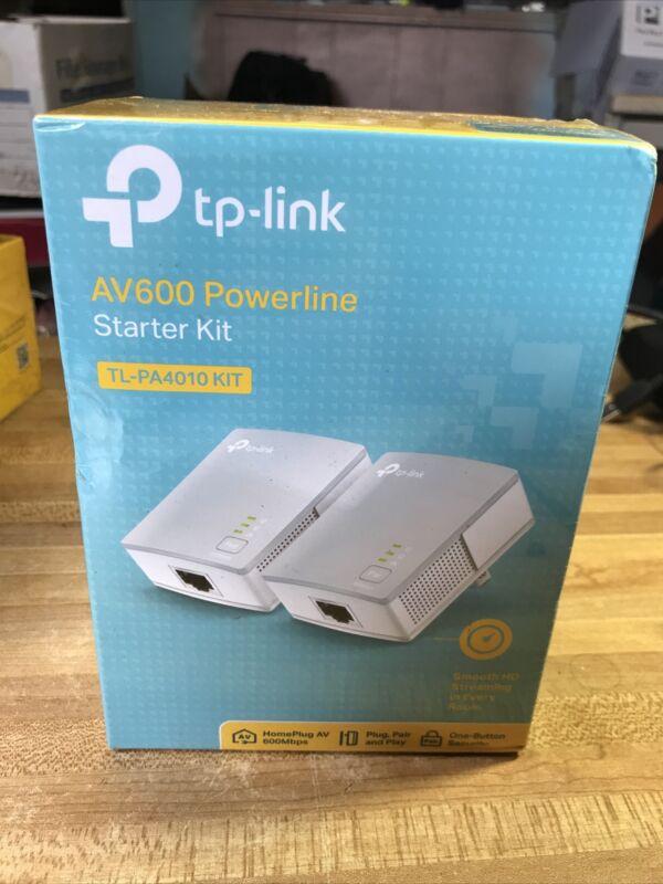 TP-Link TL-PA4010 KIT AV600 600Mbps Nano Powerline Ethernet Adapter Starter NEW