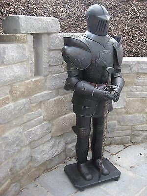 """Rüstung """"Ritterrüstung komplett tragbar zum anziehen Ritter aus Blech Höhe185cm"""