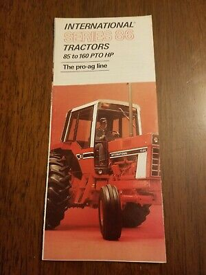 International Series 86 Brochure Proag Line 85-160 Pto Hp 1586 1486 1086 Tractor