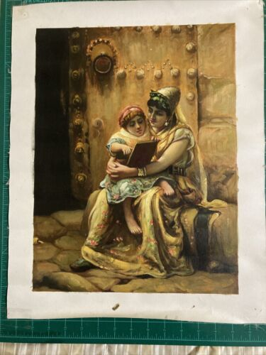 Original Oil On Canvas Of A Mother And Child 12 X 16 Painted Image Artist Unkno - $19.99