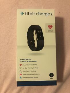 New unopened Fitbit Charge 2 with heart rate tracker - size large