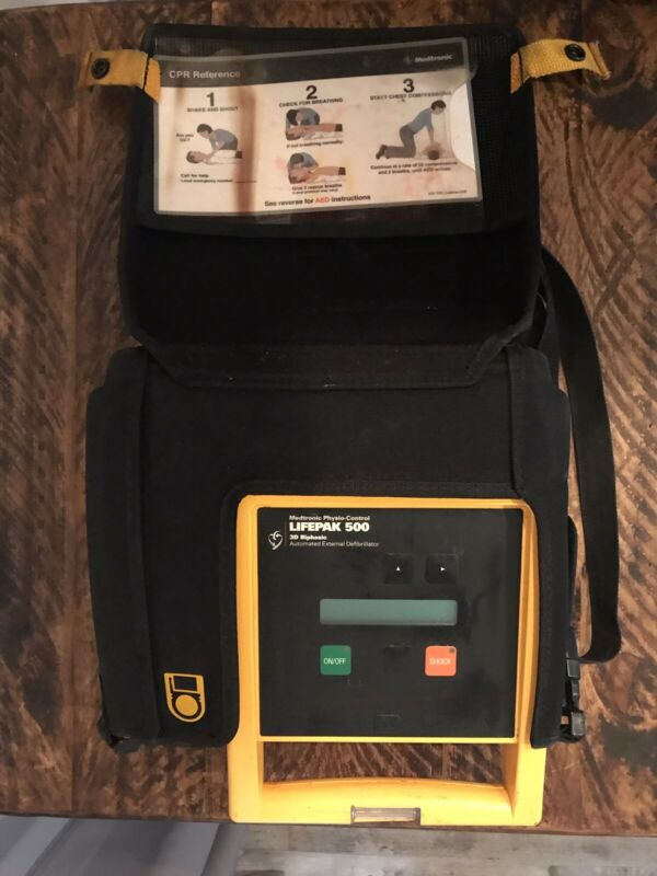Medtronic Physio-Control Lifepak 500 AED Defibrillator  (Case, Pack, 1 Battery)