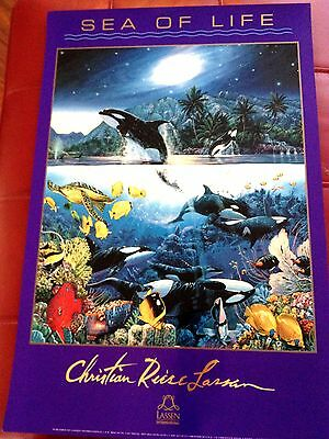 Sea of life Christian Riese Lassen 16x24 Hawaiian marine poster