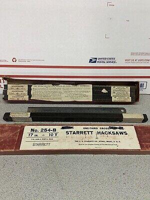 Starett Power Hacksaw Blades 17 10 Tpi 48 Blades Nos Usa 4 Bundles 0f 12 Blades