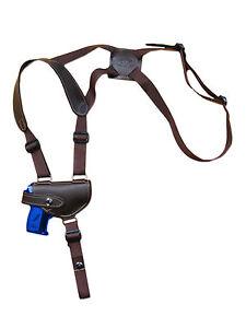 Brown leather shoulder holster kel tec ruger mini pocket 22 25 380