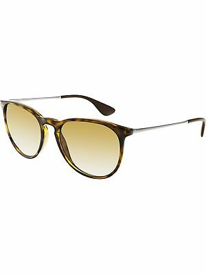 Ray-Ban Women's Polarized Erika RB4171-710/T5-54 Brown Oval Sunglasses