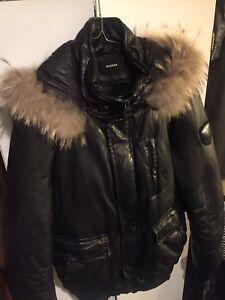 Rudsak Mens Leather Bomber Jacket Size (M)