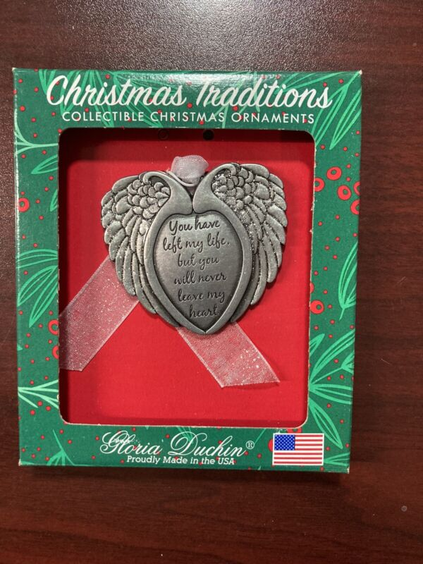 Christmas Ornament, Gloria Duchin, Angel Wings, Pewter, Made in USA