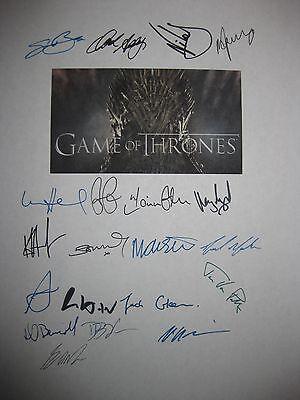 Game of Thrones Signed TV Script x20 Sean Bean Addy Waldau Dinklage Lloyd reprnt