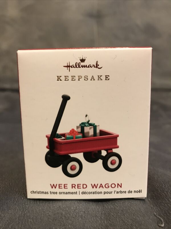 2020 Hallmark Keepsake Christmas Ornament Miniature Wee Little Red Wagon