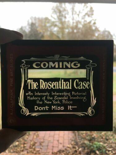 ANTIQUE 1912 GLASS PHOTO NEGATIVE SLIDES SET MURDER TRIAL ROSENTHAL CASE NYC EUC
