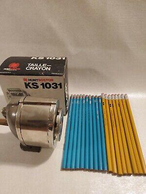 Pencil Sharpener Vintage Hunt Boston Ks1031 Fibercast Berol Terquoise 2