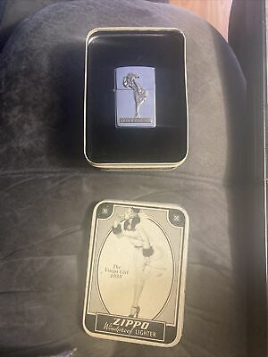 Zippo Lighter Tin Unfired 93 Limited Edition 1935 Varga Girl Vintage Advertising