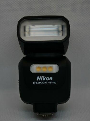 Nikon SB-500 Speedlight Flash - pristine with case.