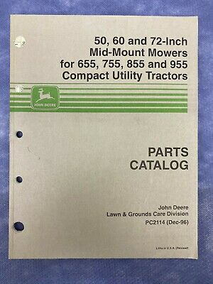 John Deere Parts Catalog For 506072 Mid-mount Mowers On Compact Tractor Pc2114