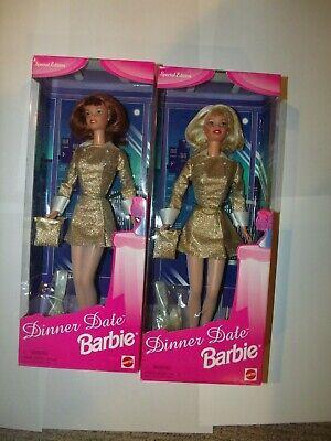 Lote De 2 1997 Cena Cita Barbie Edición Especial Rojo Cabello &...