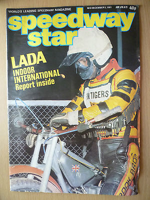 SPEEDWAY STAR MAGAZINE- 5 DECEMBER 1981, VOL.30 NO.38