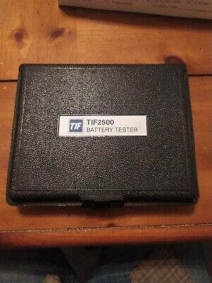 Tif 2500 Battery Tester Untested