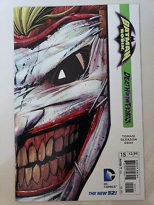 BATMAN AND ROBIN #15 (2013) DC 52 COMICS DEATH OF THE FAMILY! JOKER MASK DIECUT! (Batman And Robin Masks)