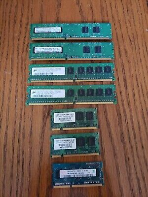 Desktop Laptop Computer Memory RAM Lot DIMM SODIMM