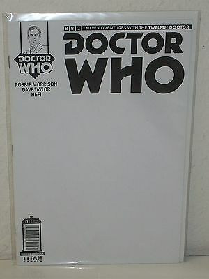 Doctor Who 12Th Dr  1   Rare Blank Sketch Variant   Robbie Morrison Taylor Titan