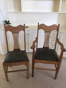 Oak dining chairs Northbridge Willoughby Area Preview