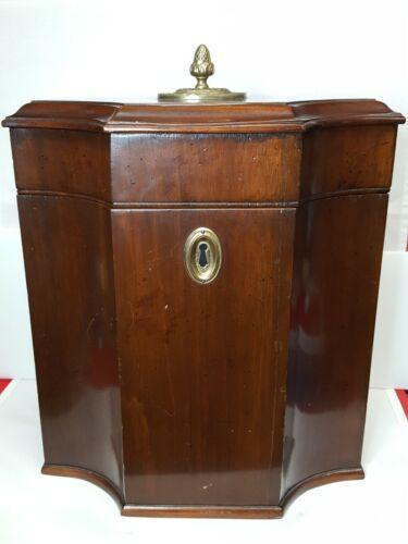 Antique/Vintage Camacho Roldan Large Hinged Wooden Box/Chest w/Unusual Interior