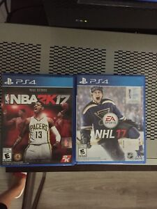 PS4 games NHL and NBA 2k17
