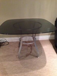 Glass table for kitchen or dining