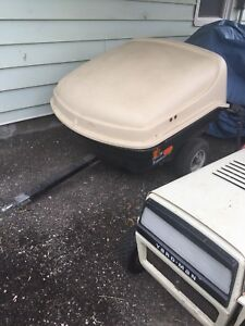 Small trailer for small car or motorcycle