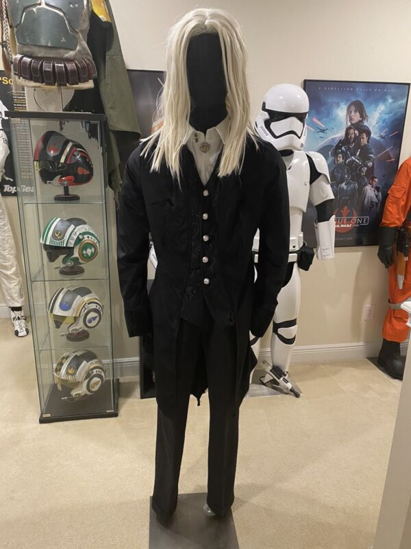Harry Potter Movie Jason Isaacs Lucius Malfoy Replica Slytherin Cosplay Costume