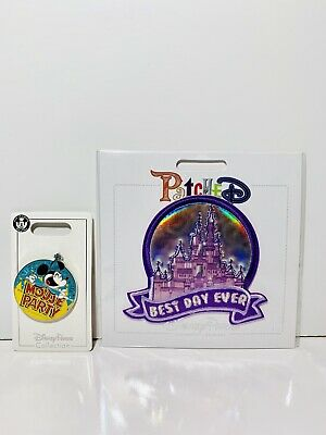 Disney Parks Castle Best Day Ever Authentic Patched & Mouse Party Pin! Lot Of (Best Disney World Park)