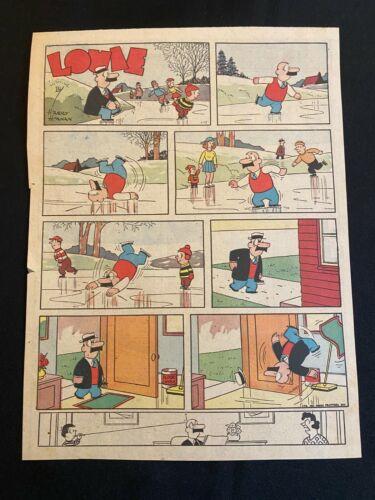 #04  LOUIE by Harry Hanan Sunday Tabloid Full Page Strip January 14, 1962