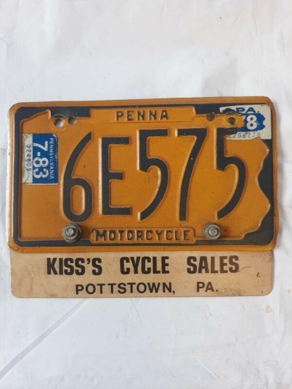 PA Motorcycle Plate- Kiss