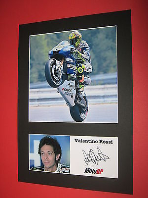 VALENTINO ROSSI MOTOGP MOUNT SIGNED REPRINT BUY ANY 3 GET 4TH FREE