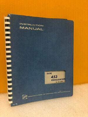 Tektronix 070-0478-01 453 Oscilloscope Instruction Manual