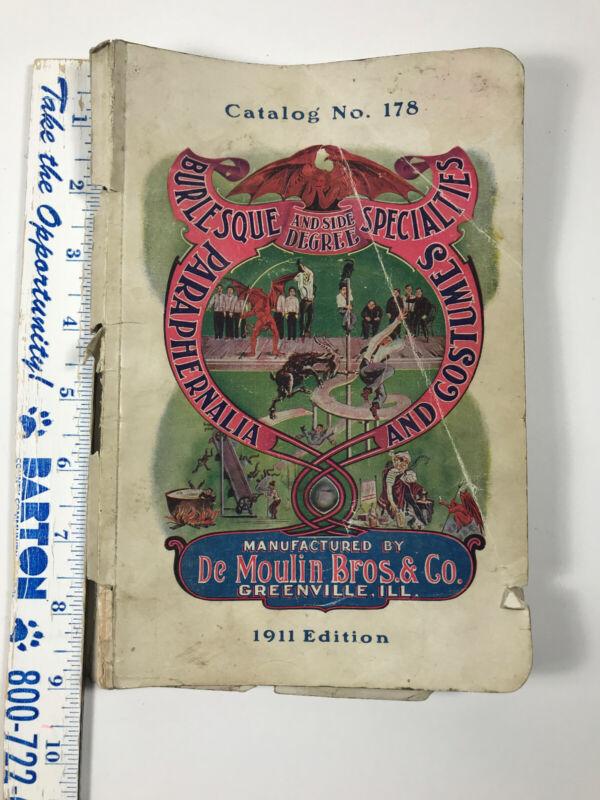 1911 DeMoulin Bros Catalog odd fellows masonic WOW burlesque costumes RARE