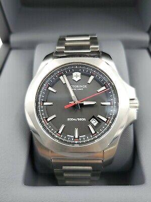 New Victorinox Swiss Army Men's Watch I.N.O.X. Black Dial 241723.1 MSRP $625