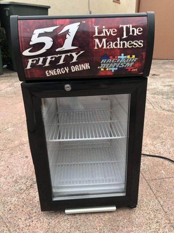 51Fifty Energy Drink Mini Fridge Cooler Bar Red Bull Rockstar Monster