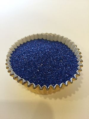 Cupcake Sprinkles (Edible Royal Blue Sanding Sugar Sprinkles Confetti cupcake cakes cookies)