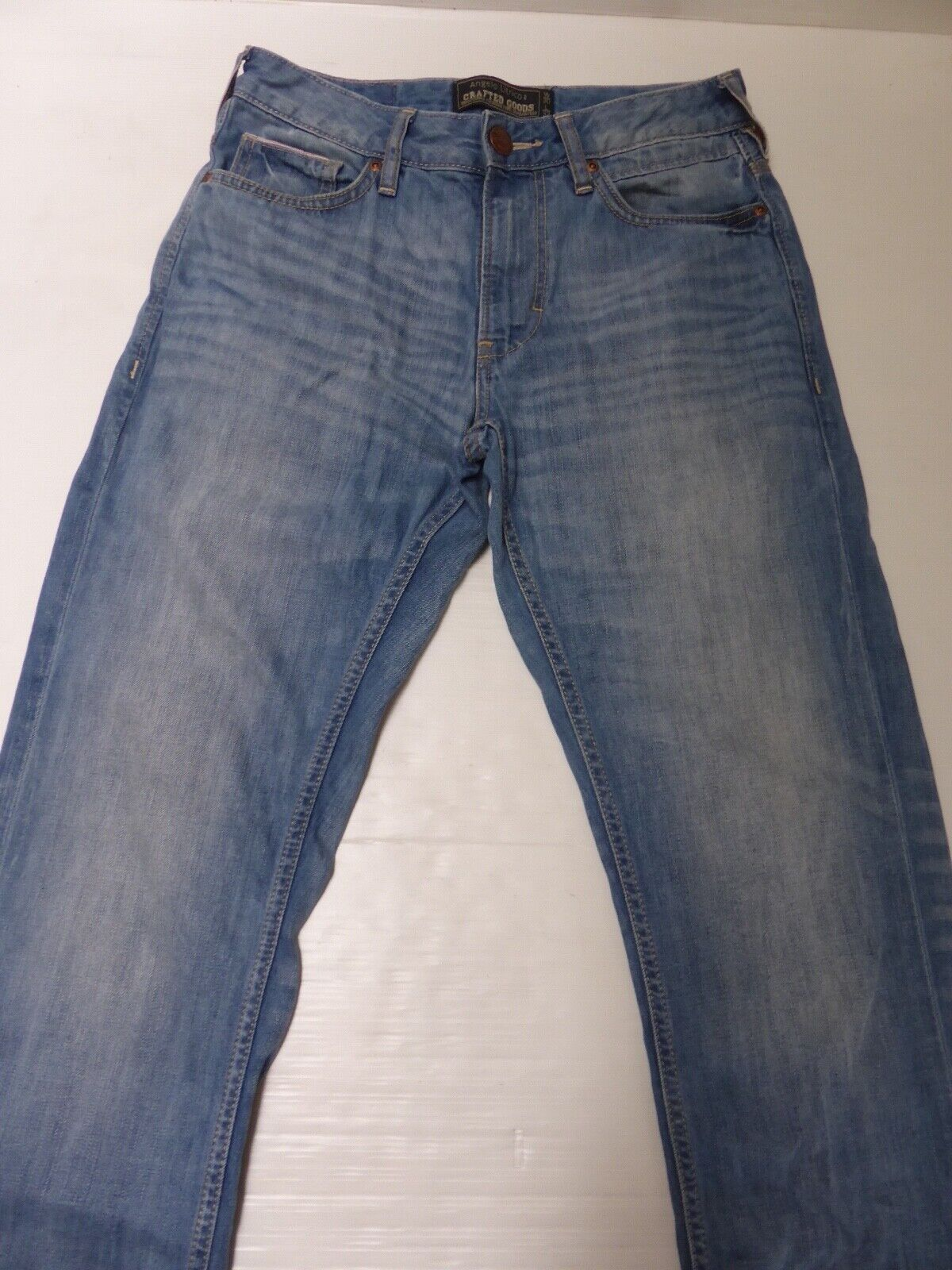 Jean denim droit 30w x 32l homme straight leg c&a angelo litrico crafted goods