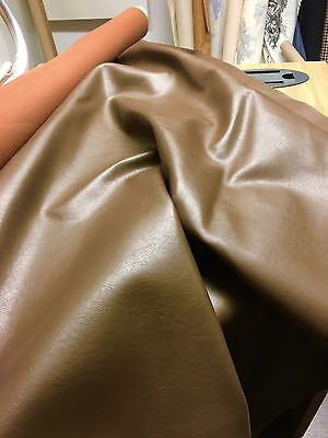 DARK BROWN FAUX LEATHER  FABRIC 1.7 METRES