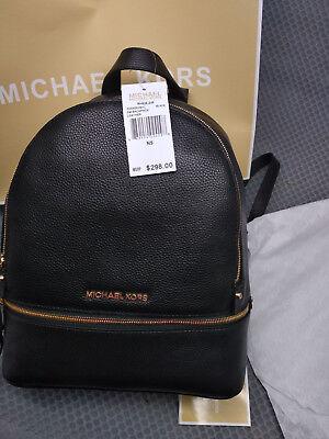 Hot Genuine Michael Kors Rhea Backpack Black  Handbag sales (Michael Kor Sales)
