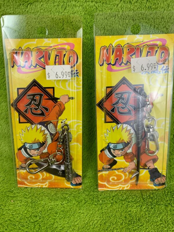 Lot of 2 Naruto Keychains - NEW!!!